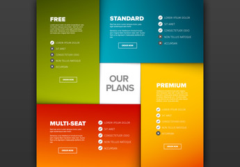 4 Product Plan with Features Layout