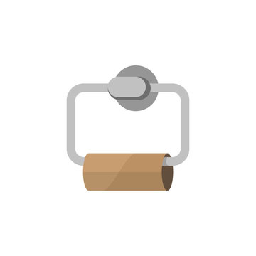 Toilet paper holder with empty brown tube