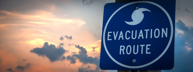 """Evacuation Route"" Sign"