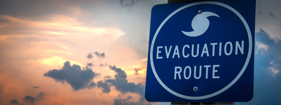 """""""Evacuation Route"""" Sign"""