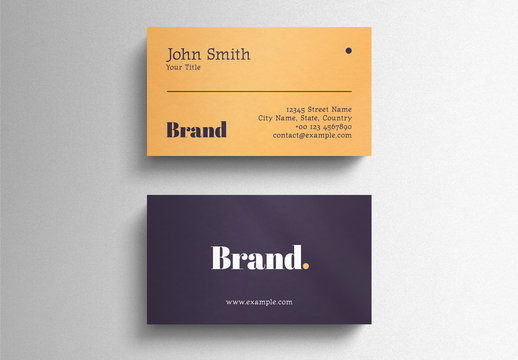 Simple Business Card Layout with Bold Typography