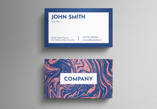Graphic Liquid Pattern Business Card Layout