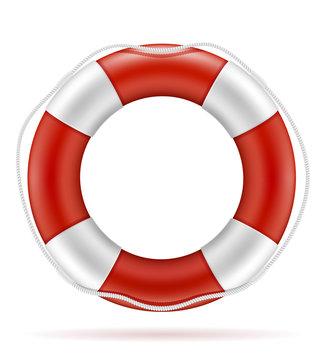 marine lifebuoy water safety stock vector illustration