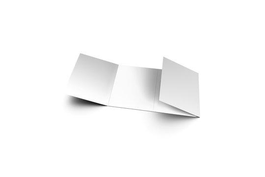 4 Fold Brochure Mock up on white background.3D rendering