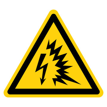 Arc Flash Symbol Sign Isolate On White Background,Vector Illustration