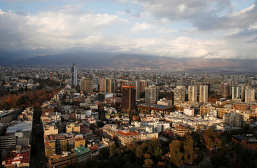 A panoramic view of the city of Santiago