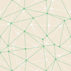 Vector Abstract Triangle Geometrical Green Thin Outlines with dots Background. Suitable for d wallpaper. Suitable for textile, gift wrap and wallpaper.