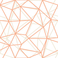 Vector Abstract Triangle Geometrical Orange Outlines Background. Suitable for textile, gift wrap and wallpaper.