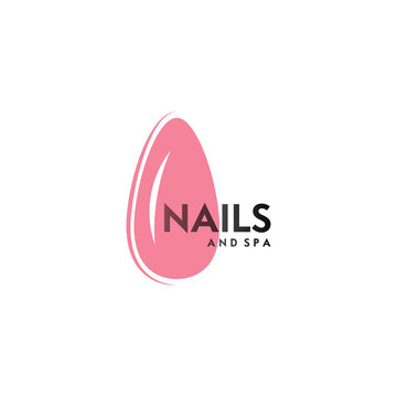 Nails and spa logo. Vector icon business sign template for beauty industry, nail salon, manicure, boutique, cosmetic procedures.