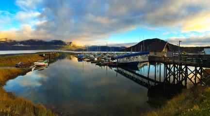 Haines Alaska Marina Sunset