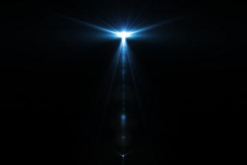 Tuinposter Licht, schaduw Lens flare isolated in black