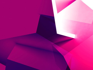 Abstract purple low polygonal 3 d