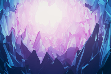 Gems and crystals mountain