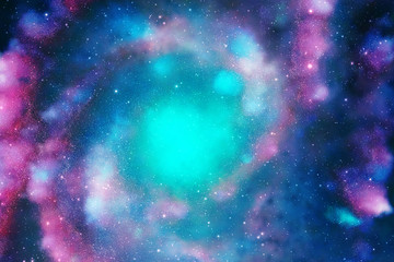 Colorful galaxy in space Fototapete