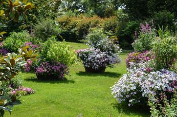 Foto op Plexiglas Tuin Flowers in a park, on a sunny day