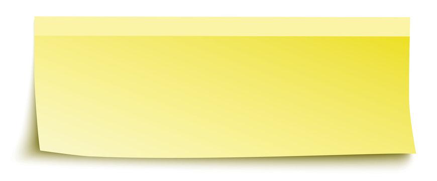 Long Yellow Sticker Header