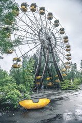 obsolete ferris wheel in Pripyat park