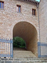 Italy, Fonte Avellana monastery side entry.