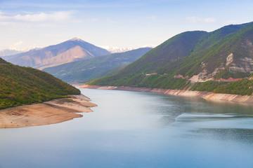 Zhinvali reservoir. Georgian landscape