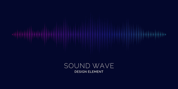 Sound wave equalizer. Vector illustration on dark background