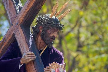Fototapete - Primera salida de  estación de penitencia de nuestro Padre Jesús de la Humildad de la hermandad del cerro del águila, semana santa de Sevilla
