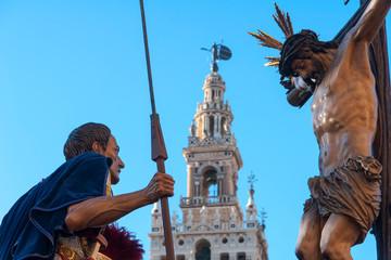 Wall Mural - Semana santa en Sevilla, Cristo del Desamparo y Abandono de la hermandad del cerro del águila