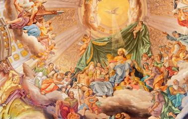 Fototapete - COMO, ITALY - MAY 8, 2015: The fresco of Glory of Christ the King in church Santuario del Santissimo Crocifisso by Gersam Turri (1927-1929).