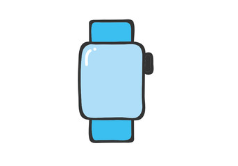 smart watch icon for mobile concept and web apps icon. Transparent outline, thin line water bottle icon for website design and mobile, app development