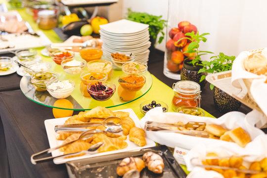 Luxury hotel buffet breakfast