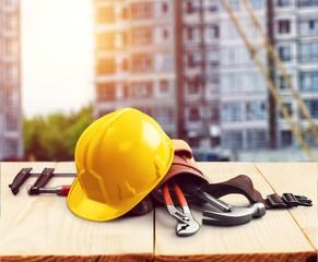 Construction site hard hat work architect architecture