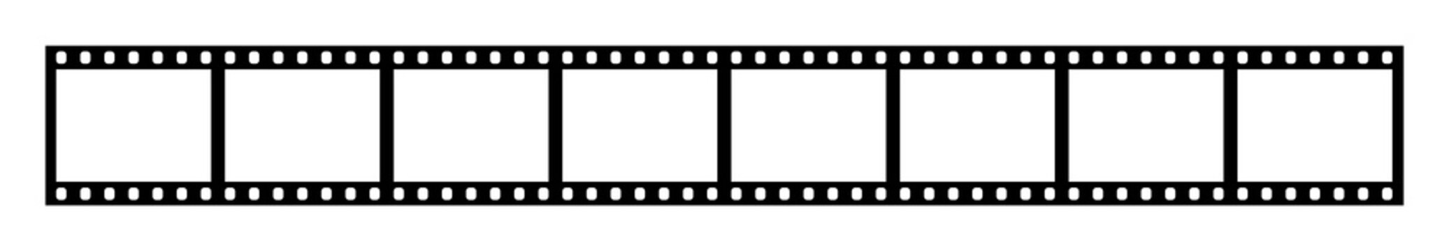 Eight empty frames of 35 mm film strip