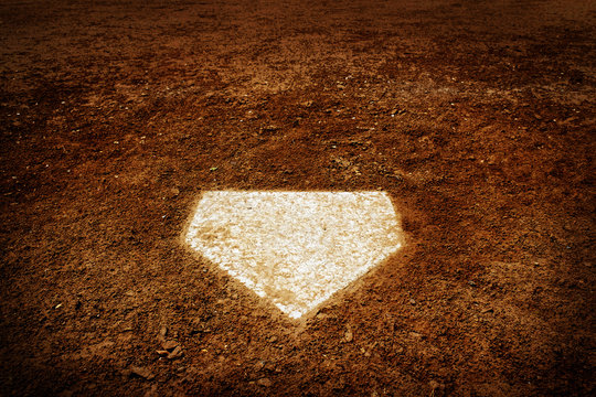 Home Plate Baseball Score in Game