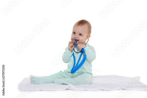 cab6ee5eeb4c6 Baby with stethoscope.