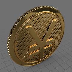 Gold Yuan coin