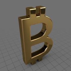 Gold bitcoin symbol
