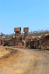 Old copper mine. Minas de S. Domingos Portugal