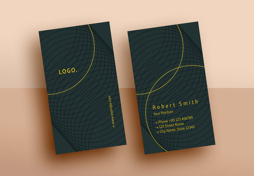 Business Card with Abstract Circular Elements