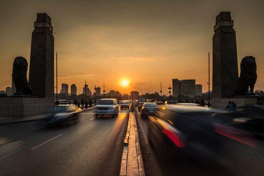 The 6th October Bridge, Cairo, Egypt