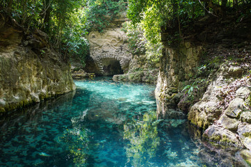 Paradise river in Cancun, Quintana Roo, Mexico
