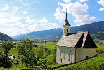 Nice church in Kaprun, city in Austria