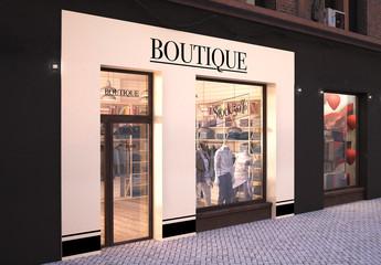 Boutique Storefront Mockup