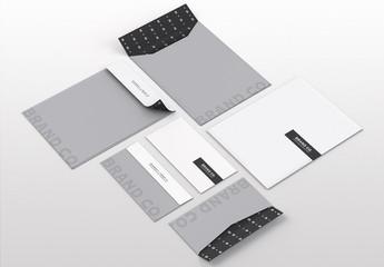 Envelope and Folder Mockup Set