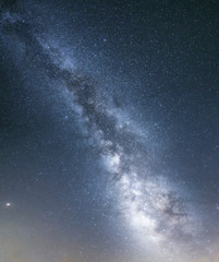 Vertical image of the Milky Way seen from southern Spain during a summer night