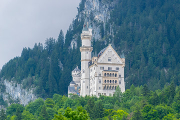 King Ludwig's Neuchwanstein castle located in Bavaria, Germany