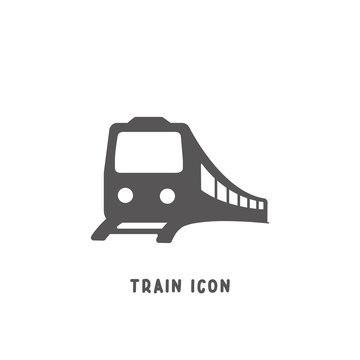 Train icon simple flat style vector illustration.