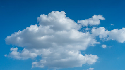 Aluminium Prints Heaven Sky with beautiful clouds weather nature cloud blue