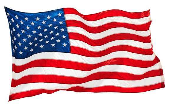 american flag isolated on white background