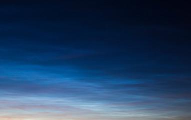 Noctilucent clouds on sunset. Fototapete