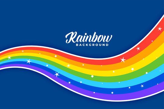 wavy colorful rainbow background design