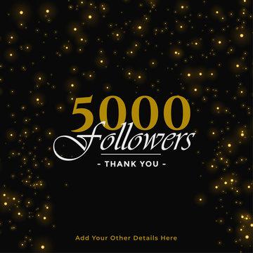 5000 followers thank you banner design